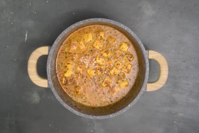 Ready methi paneer recipe.