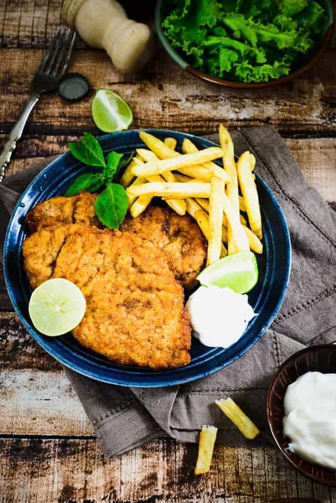 how to cook chicken breast schnitzel