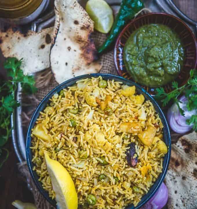 Tahri recipe served in a bowl