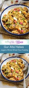 Gur aur Atte ka Halwa or Jaggery and Wholewheat Flour halwa is a tasty, filling sweet dish that is traditional Indian and a staple in north Indian homes.#Diwali #DiwaliRecipe #DiwaliRecipes #IndianRecipes #IndianSweetRecipes #IndianDessertRecipes #IndianFestival #IndianFestivalIdeas #DiwaliIdeas