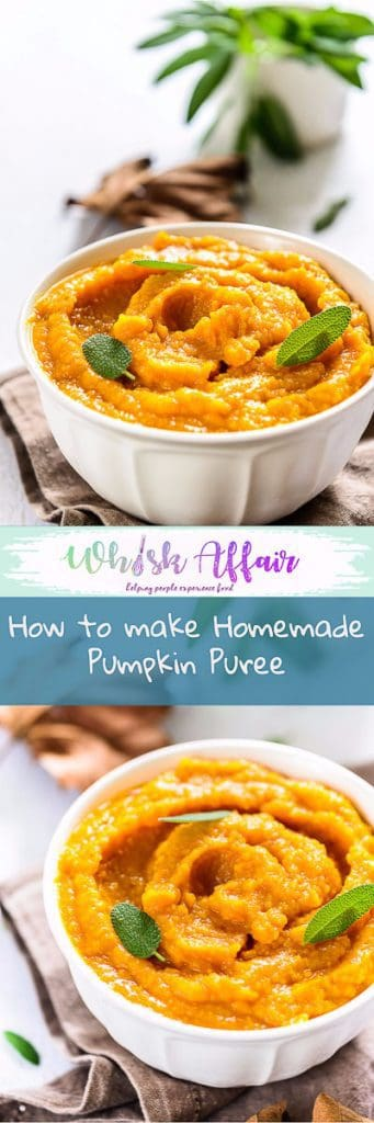 Here is How to make Homemade Pumpkin Puree. This Homemade Pumpkin Puree can be refrigerated for a month and can be used in multitude of recipes. #Fall #FallRecipes #Pumpkin #PumpkinRecipes #Homemade #FromScratch #Best