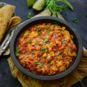 Achari Turai is a spicy delicious dish prepared using Turai, Courgette or Ridge Gourd. Not a vegetable liked by everyone, ridge gourd is actually high on nutrients and very healthy. Here is how to make Achari Turai.