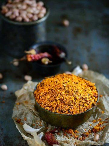 Andhra Style Peanut Chutney Powder