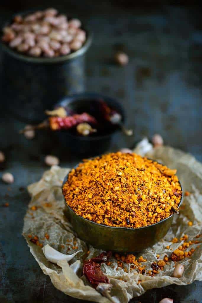 Andhra Style Peanut Chutney Powder / Palli Podi