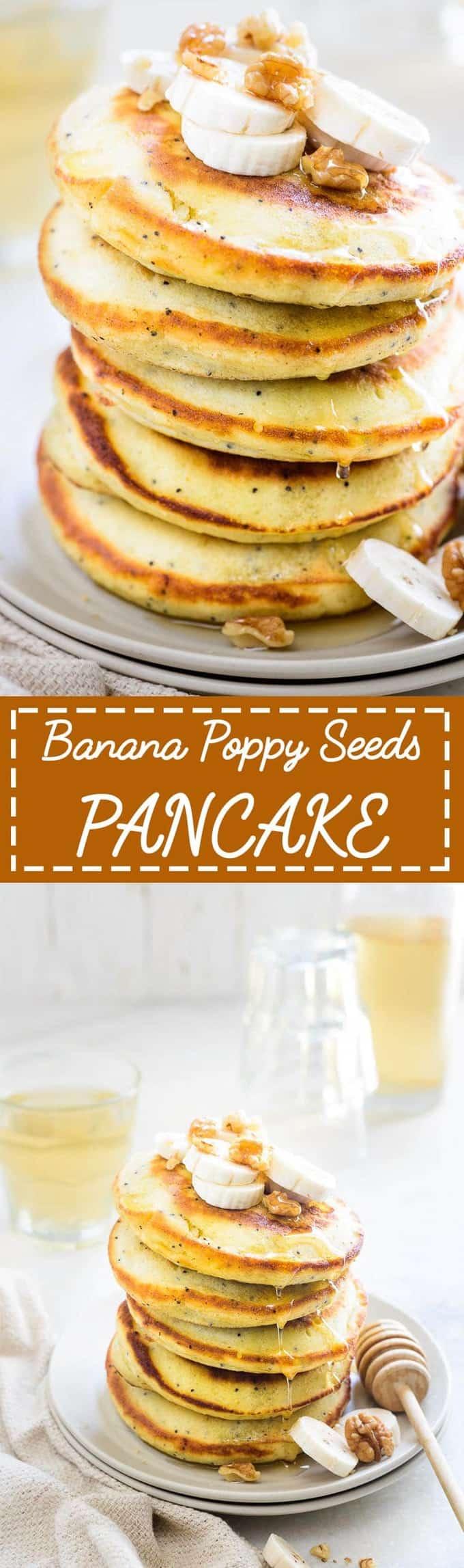 Banana Poppy Seed Pancake