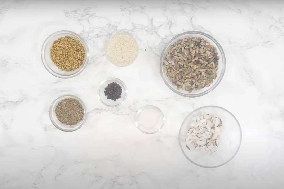 Dukkah Ingredients.
