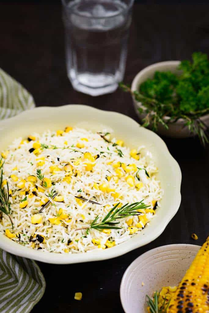 Roasted Corn and Herb Rice Recipe, How to make Roasted Corn and Herb Rice