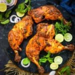 Tandoori Chicken is a lip-smacking dry chicken dish from the Indian subcontinent, and it happens to be that one dish that a party or gathering just cannot do without. I