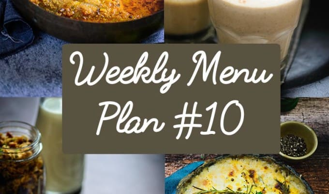 Weekly Menu Plan for the week of 7th Dec (Recipes for GingerBread Granola, Lagan Ki Machli, Banana Poppy Seeds pancake and more included )