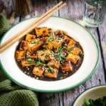 Asian Style Garlic Tofu is a simple healthy dish where tofu coated with Oriental sauces and spices is pan fried & cooked. Pair it with rice for a full meal.
