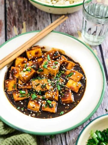 Asian style Garlic Tofu