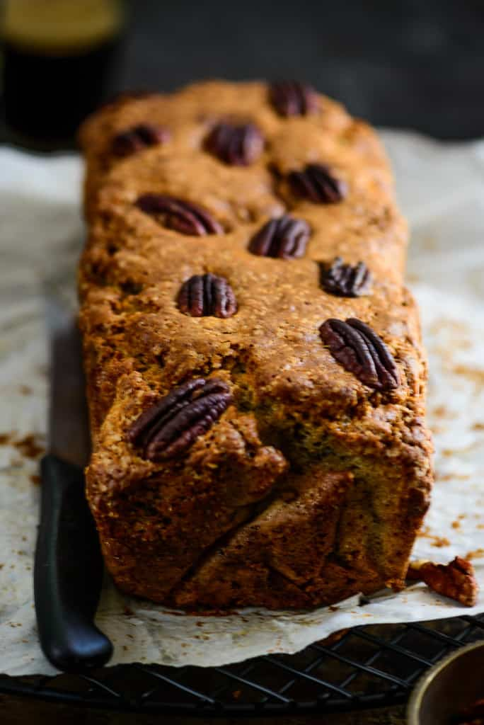 Banana Cinnamon Pecan Bread is a naturally sweet, moist bread, with the scent of cinnamon and crunch of pecan. It can be enjoyed just as is, or slathered with Black Grapes Jam or butter.