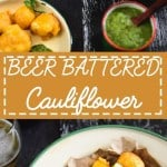 Beer Battered Cauliflower