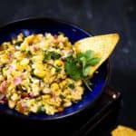 Chipotle Copycat Corn Salsa is a sweetish salsa with a hint of spice. It brings together the spice of jalapeños with the sweetness of the corn.