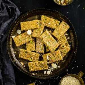 Til Chikki is a crispy sweet treat which has a mix of jaggery and til or sesame seeds. It is delicious and quick to make.