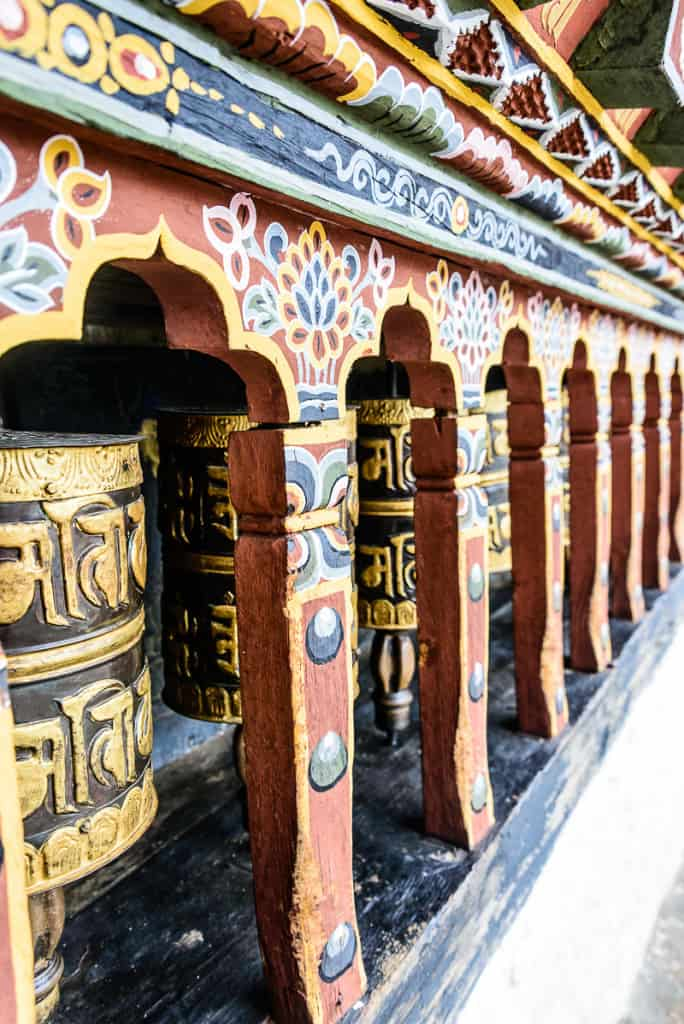 Changangkha Lakhang Prayer Wheels