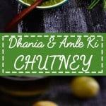 Dhaniya aur Amle Ki Chutney