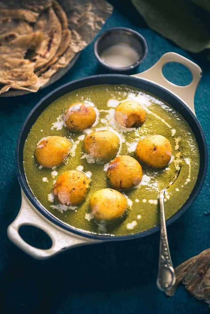 Hariyali Malai Kofta Recipe, How to make Hariyali Malai ...