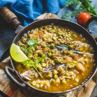 UP Style Matar ka Nimona (Fresh Peas Curry)