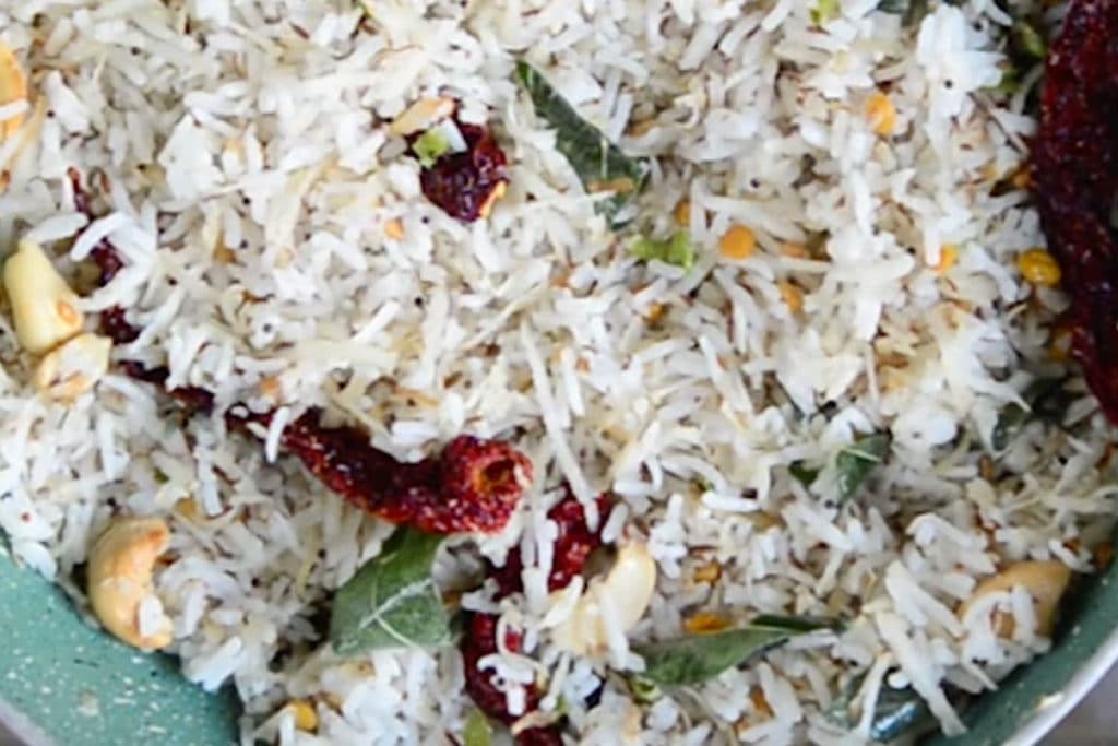 South Indian Coconut Rice Recipe, Indian Coconut Rice ...