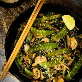 Snow Peas and Mushroom Stir Fry