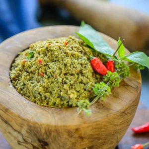Thai Green Curry Paste is a tangy, spicy sweet paste native to the region, that is added to a variety of curry's and gravy dishes.
