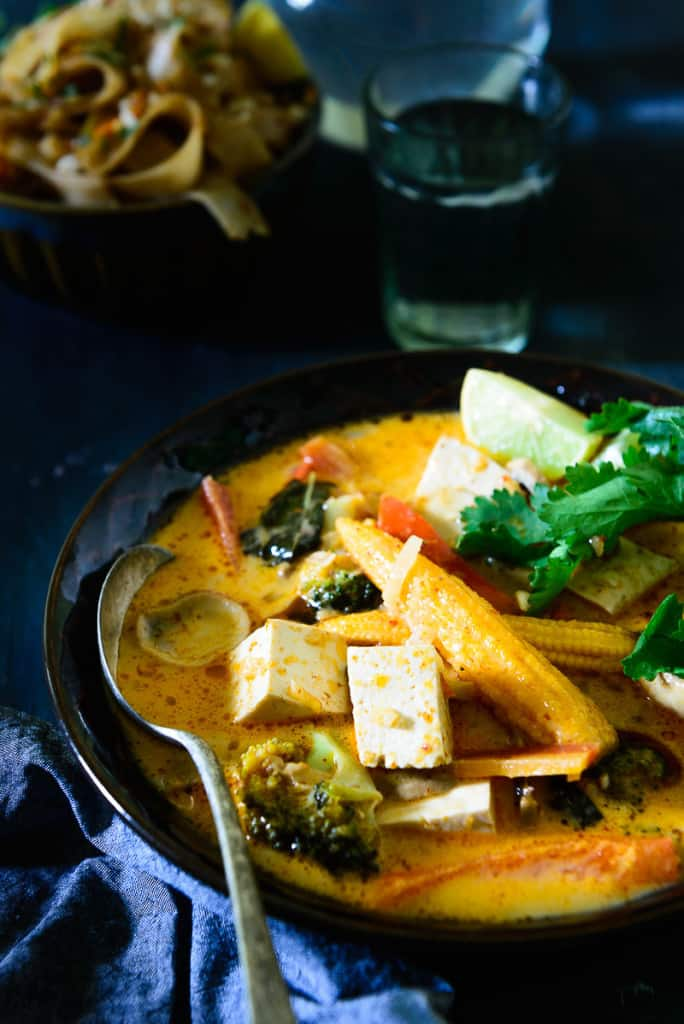 Thai Red Curry with Tofu and Vegetables