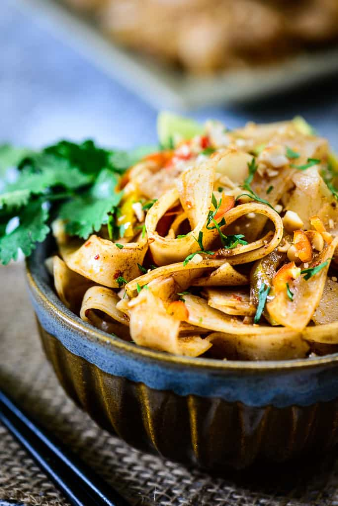 Vegetarian Pad Thai Noodles - Whisk Affair