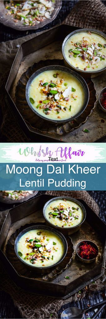 Moong Dal Kheer, also called Pesara Pappu Payasam in South India, is a thick, creamy sweet dish made using Moond dal, milk and dry fruits. Here is how to make Moong Dal Kheer. #Diwali #DiwaliRecipe #DiwaliRecipes #IndianRecipes #IndianSweetRecipes #IndianDessertRecipes #IndianFestival #IndianFestivalIdeas #DiwaliIdeas
