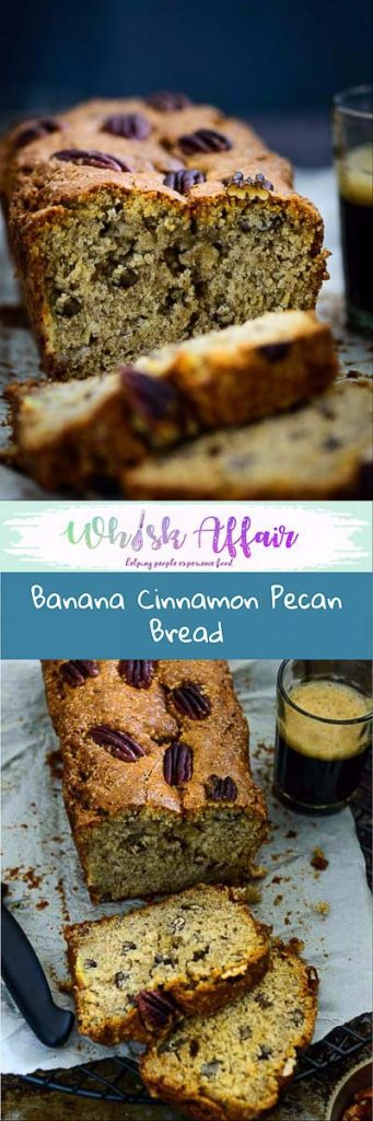 Banana Pecan Bread is a naturally sweet, moist bread, with the scent of cinnamon and crunch of pecan. Make it at home with this recipe. #Best #banana #Bread