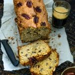 Banana Pecan Bread is a naturally sweet, moist bread, with the scent of cinnamon and crunch of pecan