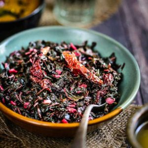 Chaulai Ki Bhujia is one way of cooking healthy amaranth leaves. It is a stir fry dish of this leaves with chillies and spices.