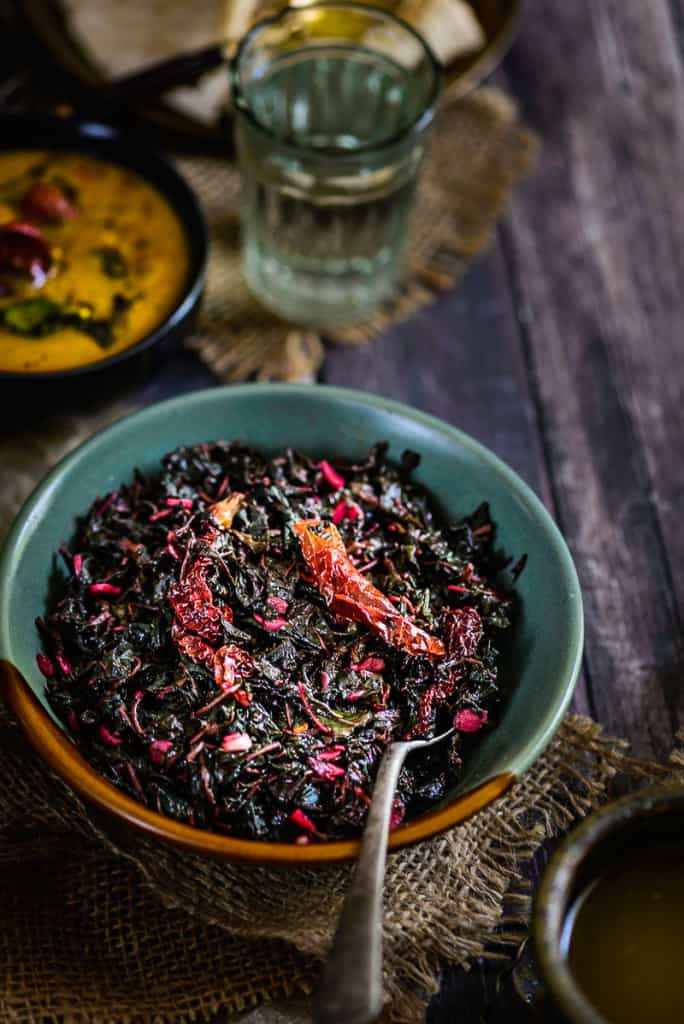 Chaulai Ka Saag is one way of cooking healthy amaranth leaves. It is a stir fry dish of this leaves with chillies and spices, and can be rustled together in minutes. The dish can be enjoyed with plain rice and Dal Amritsari on the side or eaten with chapattis and rotis.