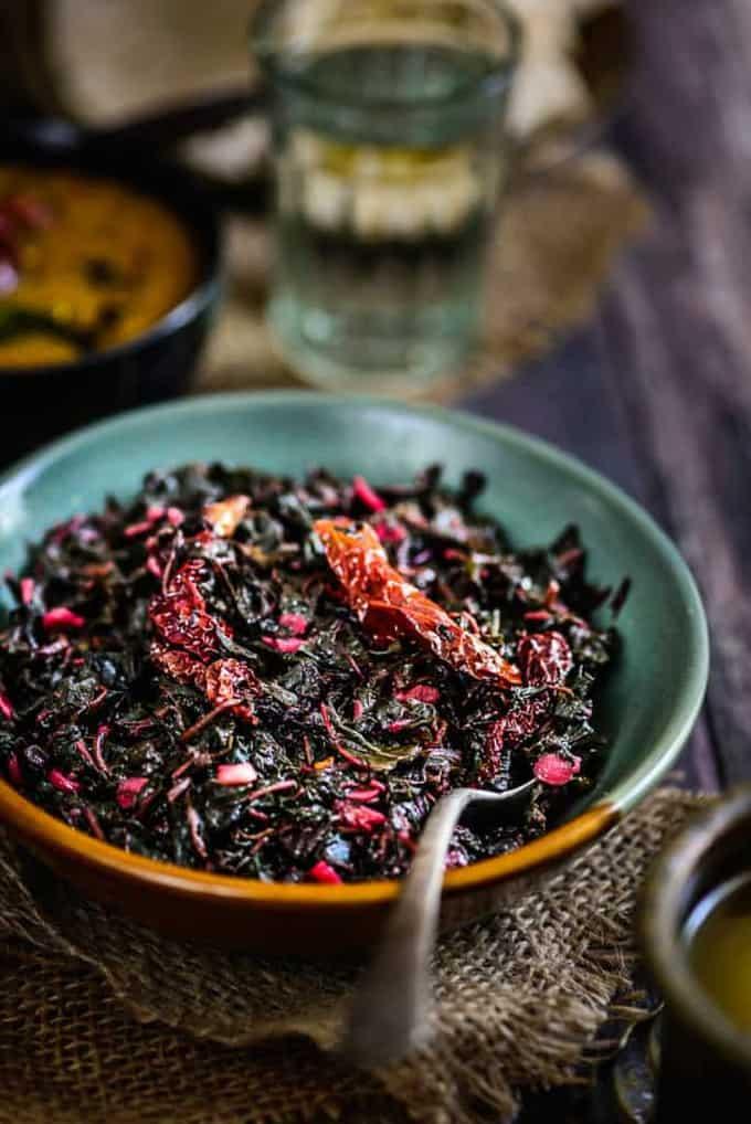 Chaulai Ki Bhujia / Amaranth Greens Stir Fry