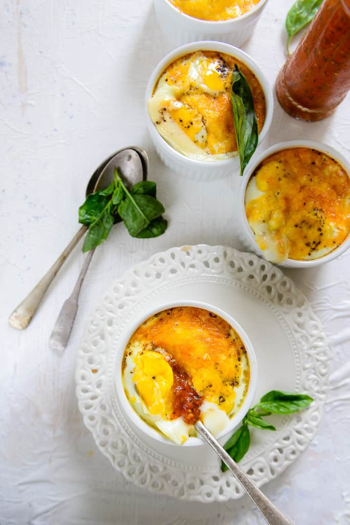 Italian Baked Eggs are a complete breakfast, and don't take much time to bake. Since many of us eat eggs as a staple breakfast option, these baked eggs are a perfect alternative to scrambled or boiled that we are often used to.