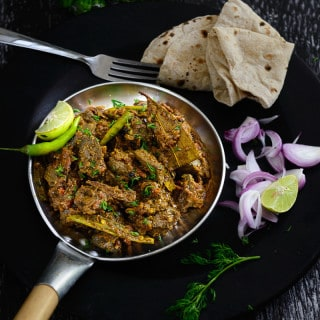 Kaleji or mutton liver is a common mutton preparation in India. Spicy, scrumptious and a great coming together of most of the common Indian spices, Kaleji Masala is a common dry preparation that can be enjoyed as an appetizer, with rotis or kerala parotta and even plain white rice.
