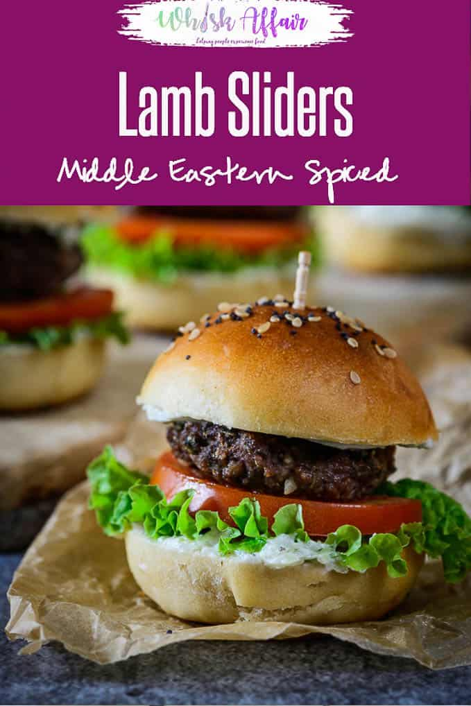 Middle Eastern Spiced Lamb Sliders have lamb mince as the base of the patty to which is added an interesting mix of spice powders. #Homemmade #LambSliders #MiddleEastern