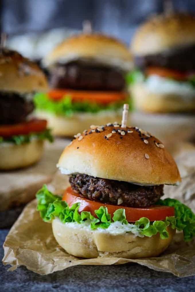 Middle Eastern Spiced Lamb Sliders Recipe, How to make Middle Eastern Spiced Lamb Sliders