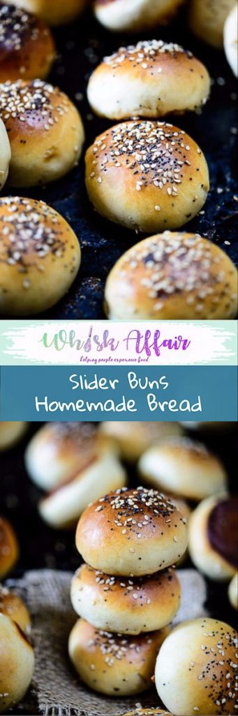 Slider Buns are grab and eat mini hamburger bun which are soft, moist and can be loaded with any kind of filling. Make your own using this easy recipe. #Homemade #Burger #Bread