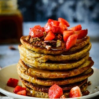 Wholewheat Honey Pancakes are healthy and filling, and adding flax seeds to them takes their nourishment up a notch.