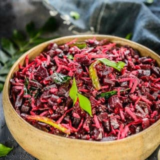 South Indian Beetroot Poriyal