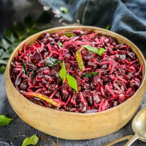 How to prepare Beetroot Poriyal