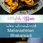 Bhakarwadi Recipeis a Maharashtrian speciality, stuffed with different spices, steamed and then deep-fried and best prepared for tea time snacks. #TeaTimeSnack #IndianSnacks #DrySnacks #DiwaliRecipes #DiwaliSnacks #MaharashtrianRecipes