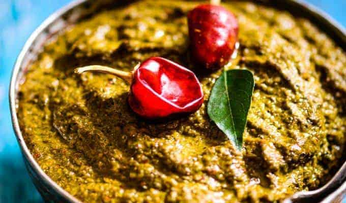 Curry Leaves Coconut Chutney