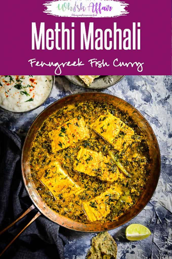 Methi Machli is a delicious curry made using fish fillets and fresh fenugreek leaves. Here is a lovely recipe to make it. #Indian #Fish #Curry