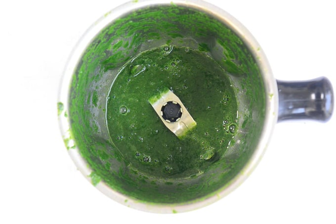 Spinach pureed