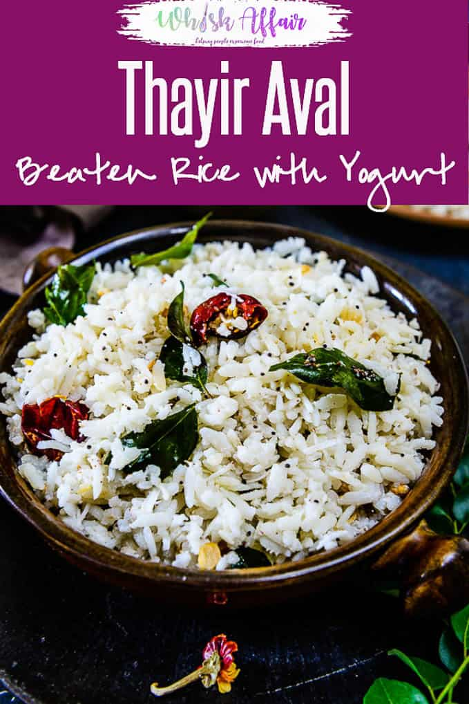 Thayir Aval is an easy recipe made from poha and buttermilk. When I run out of breakfast options, Thayir Aval rescues me as a healthier breakfast. Here is how to make it. #SouthIndian #Breakfast #Healthy #Summer #Recipe