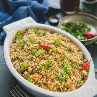 Easy Asian Cauliflower Rice Recipe + Video