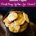 Baked Papdi or Indian style crackers is a healthy version of the regular Papdi and it tastes just as good as the regular fried ones.  Here is how to make it. #Indian #Chaat #papdi #Healthy #Recipe