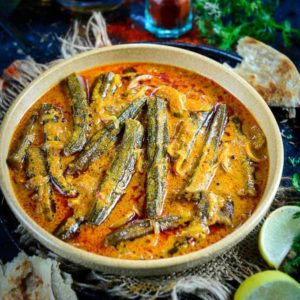 Bhindi ka Salan is a spicy and tangy dish and is crafted using jaggery and tamarind paste, which gives it a slightly sour and sweet taste.